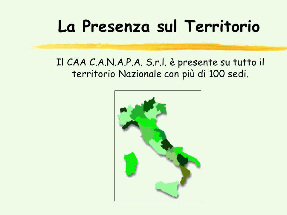 La Presenza sul Territorio Il CAA C.A.N.A.P.A.S.r.l.