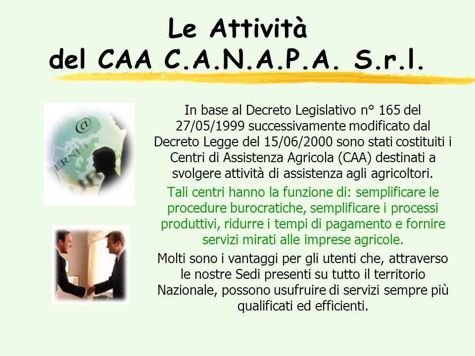 UMA Gli sportelli del CAA C.A.N.A.P.A.S.r.l.