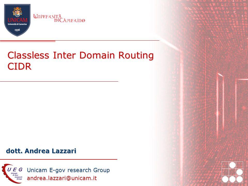 Unicam E-gov research Group andrea.lazzari@unicam.it dott.