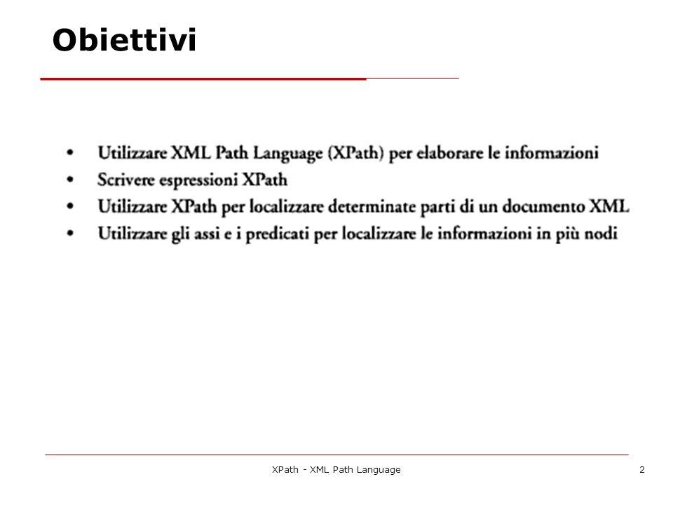 XPath - XML Path Language33 Un ulteriore esempio di XPath 990 Roma 240...