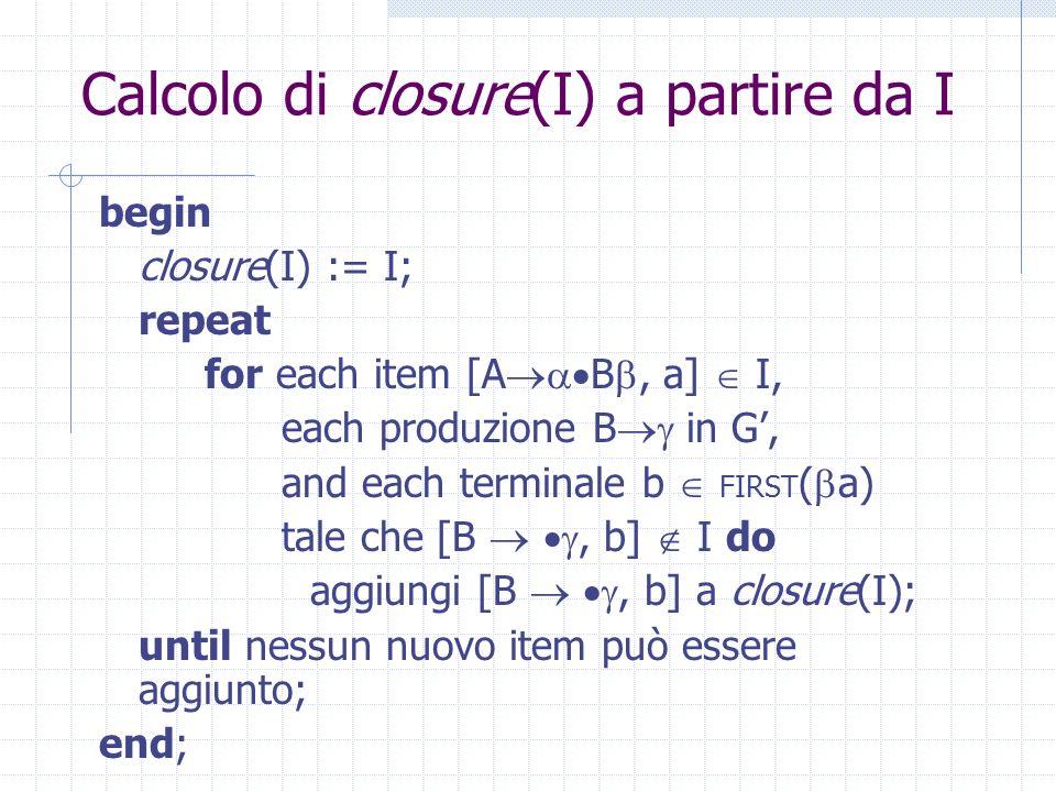 Closure Il b in questione potrebbe essere il primo carattere derivato da, oppure, se *, b potrebbe essere la a Per trattare uniformemente tutti i casi