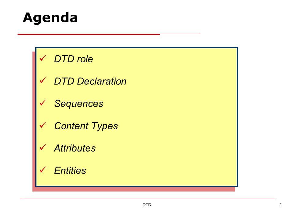 DTD33 Progettare una struttura dati XML