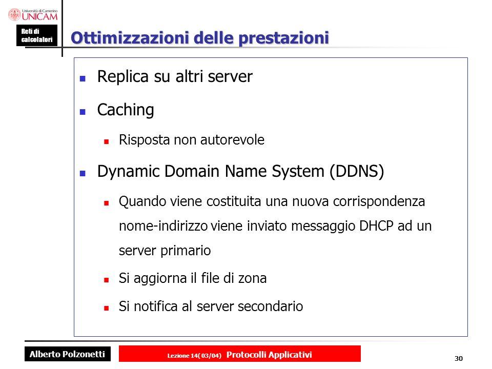 Alberto Polzonetti Reti di calcolatori Lezione 14( 03/04) Protocolli Applicativi 29 Risoluzione Iterativa client Mcgraw.