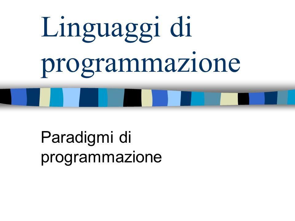 Linguaggi di programmazione Paradigmi di programmazione
