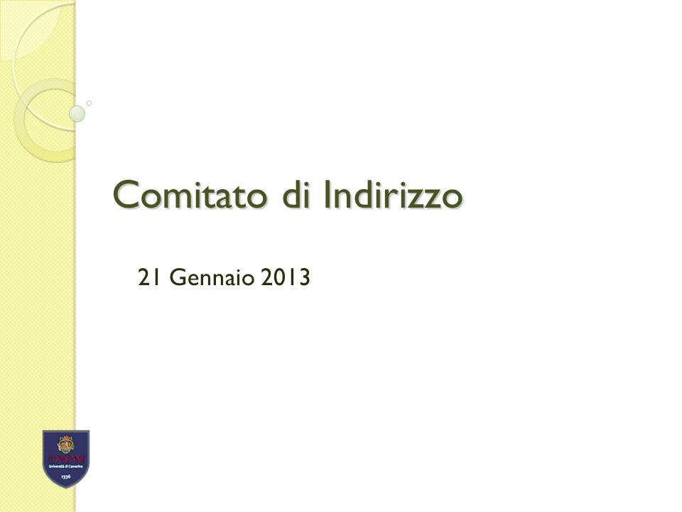 Comitato di Indirizzo 21 Gennaio 2013