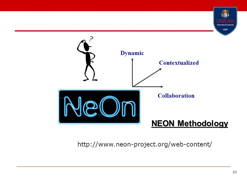 23 NEON Methodology Dynamic Collaboration Contextualized http://www.neon-project.org/web-content/
