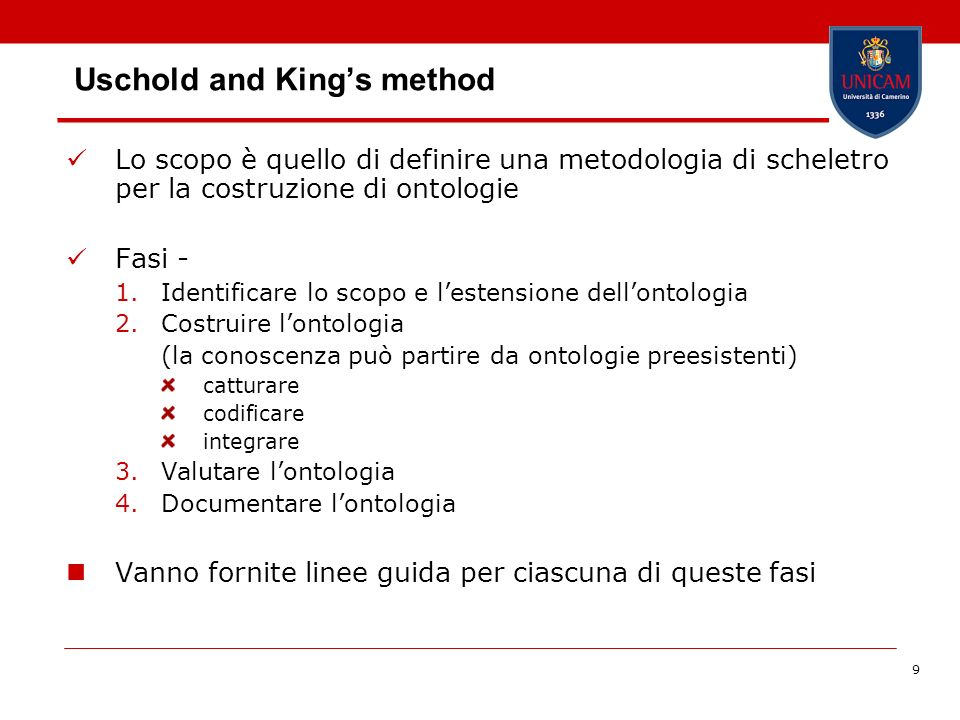 10 Fase 1 – Identificare lo scopo e lestensione dellontologia Perché è stata costruita lontologia.