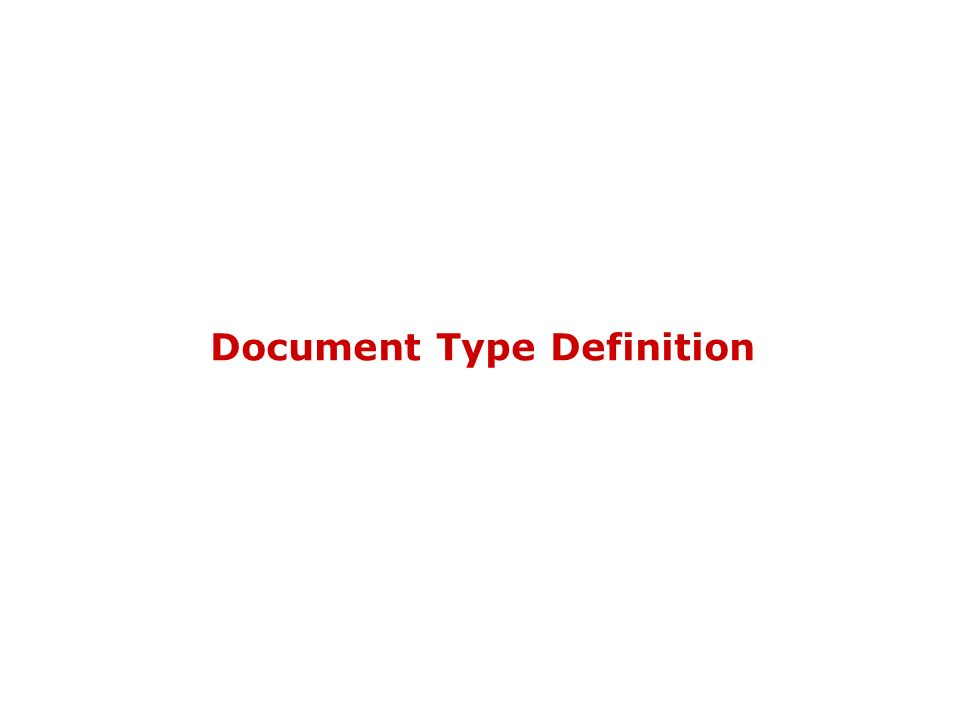 DTD & XML Schema4 XML ben formati ed XML validi I due diversi livelli di controllo del documento generano due livelli di correttezza: XML ben formato: XML valido Es: Titolo è ben formato ma non è tipicamente valido La buona formazione può essere valutata conoscendo solo XML La validazione dipende dalla specifica applicazione XML e cioè dallo specifico linguaggio