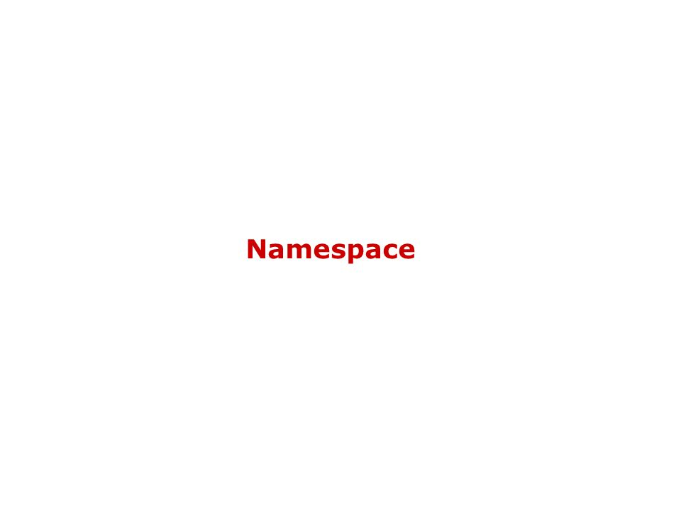 Namespace