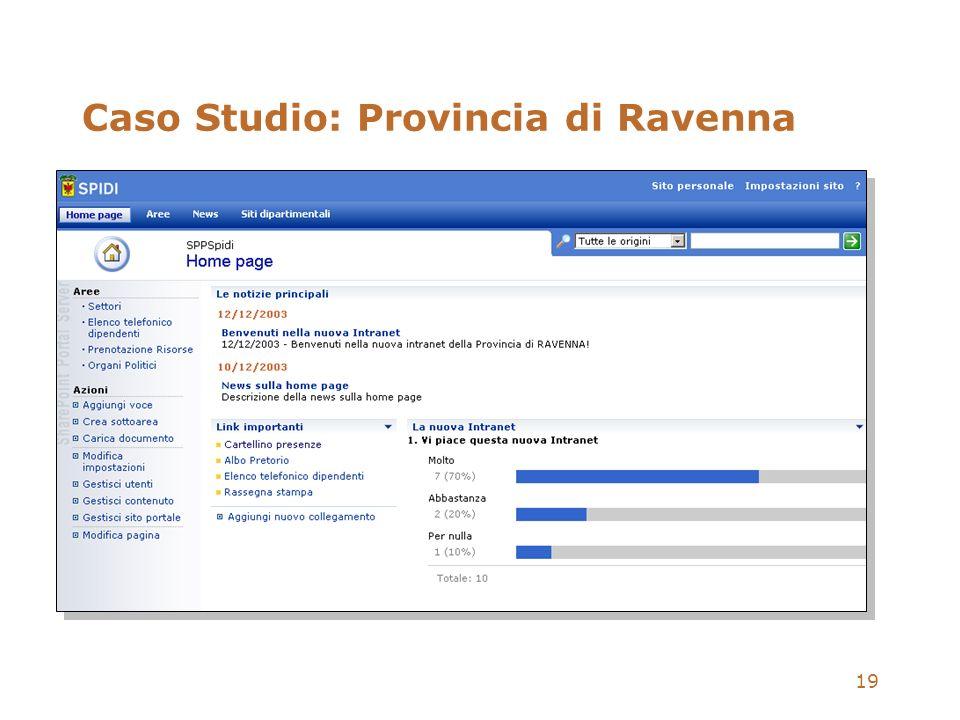 19 Caso Studio: Provincia di Ravenna