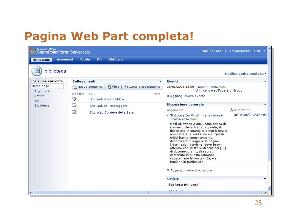 28 Pagina Web Part completa!