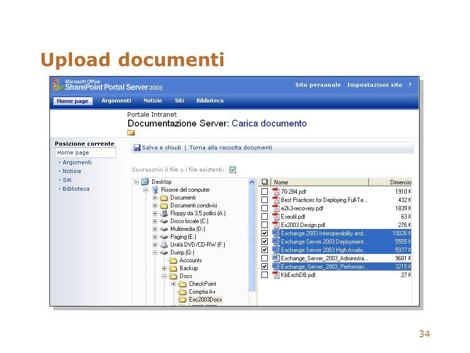 34 Upload documenti