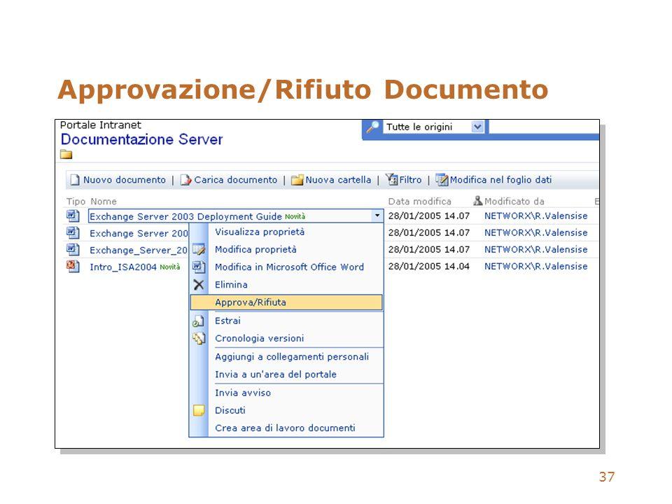 37 Approvazione/Rifiuto Documento