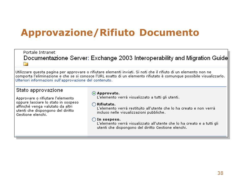 38 Approvazione/Rifiuto Documento