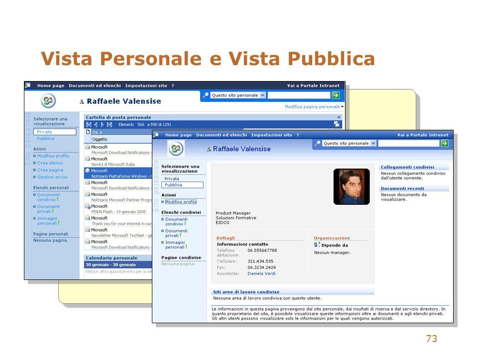 73 Vista Personale e Vista Pubblica