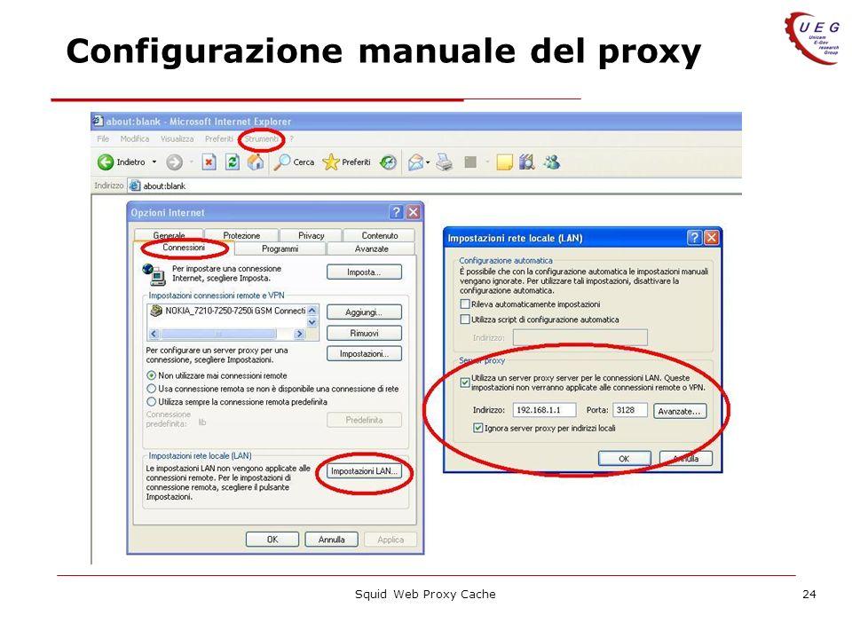 Squid Web Proxy Cache24 Configurazione manuale del proxy