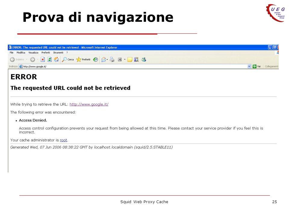 Squid Web Proxy Cache25 Prova di navigazione