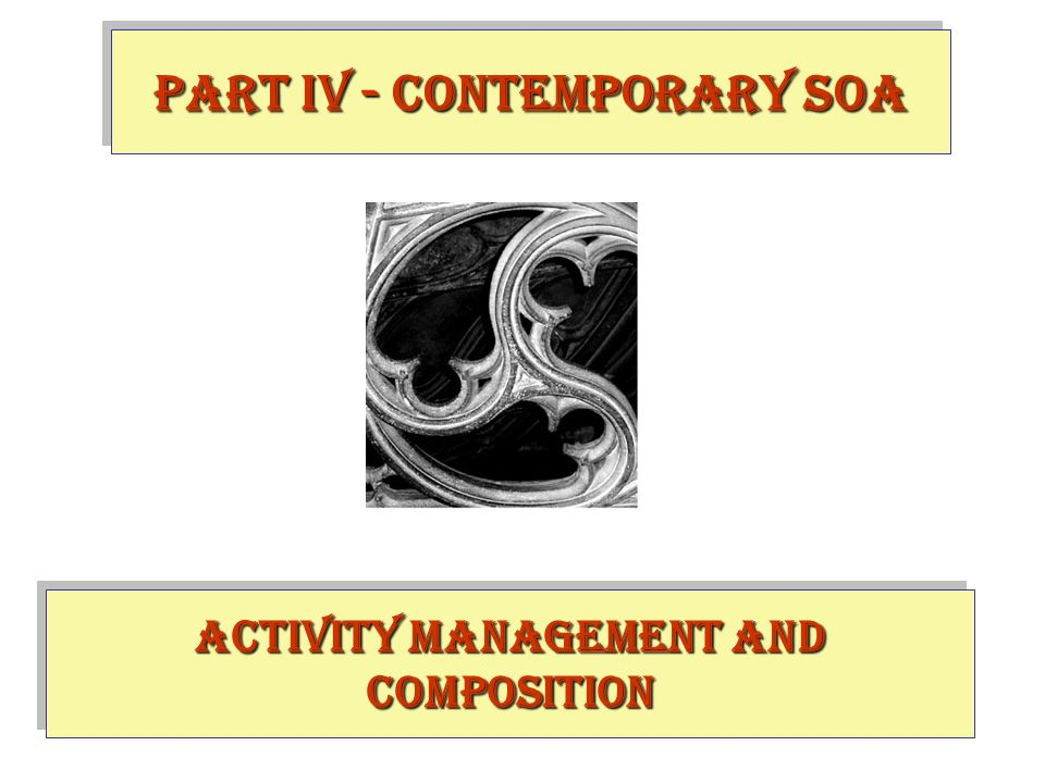 Activity Management and Composition PART IV - contemporary SOA