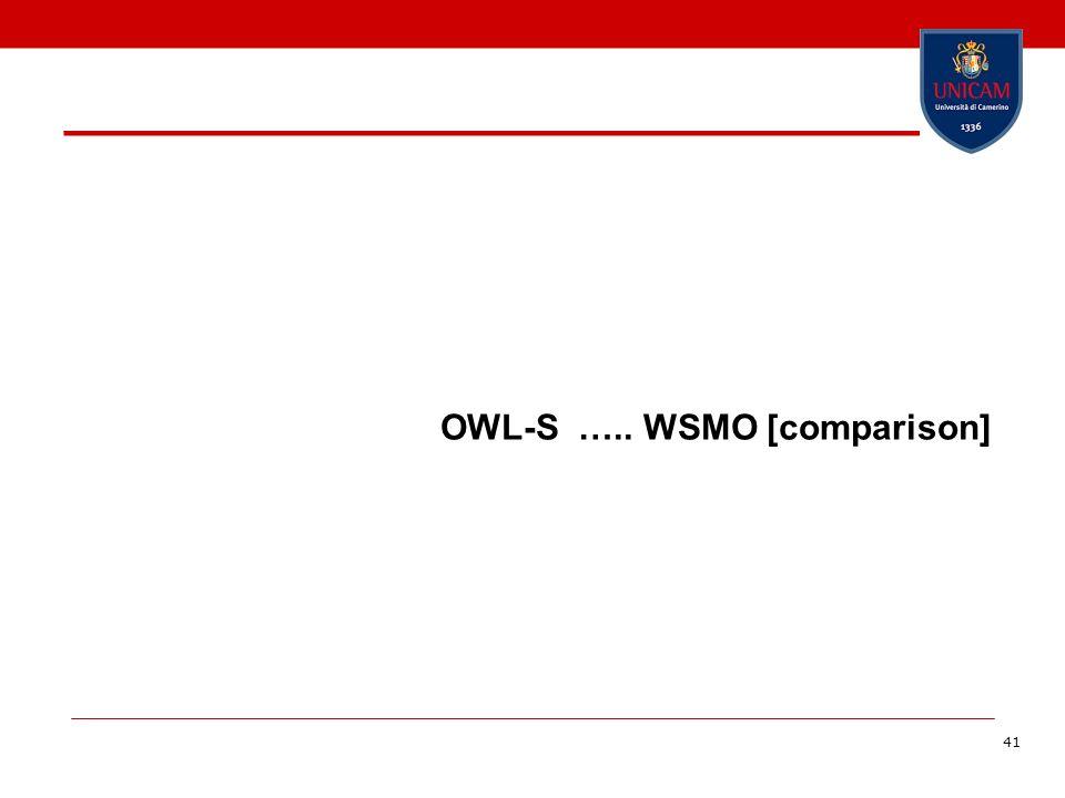 41 OWL-S ….. WSMO [comparison]