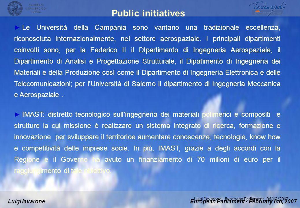 European Parliament - February 6th, 2007Luigi Iavarone CAMERA DI COMMERCIO DI NAPOLI Luigi Iavarone - European Parliament, 06/02/2007 La Regione Campa