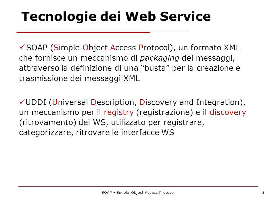SOAP - Simple Object Access Protocol6 Stack dei WS