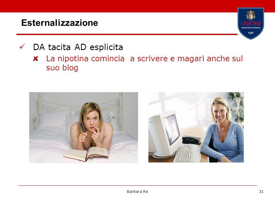 Barbara Re31 Esternalizzazione DA tacita AD esplicita La nipotina comincia a scrivere e magari anche sul suo blog