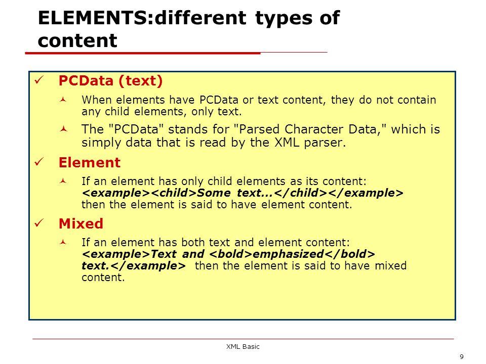 XML Basic 40 Well formed verification ; book markup (II) XML Primer Paul Deitel Welcome Easy XML XML Elements Entities -->