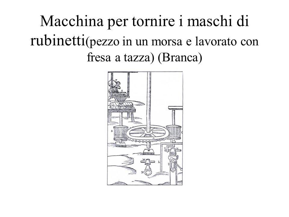 Macchina per tornire i maschi di rubinetti (pezzo in un morsa e lavorato con fresa a tazza) (Branca)