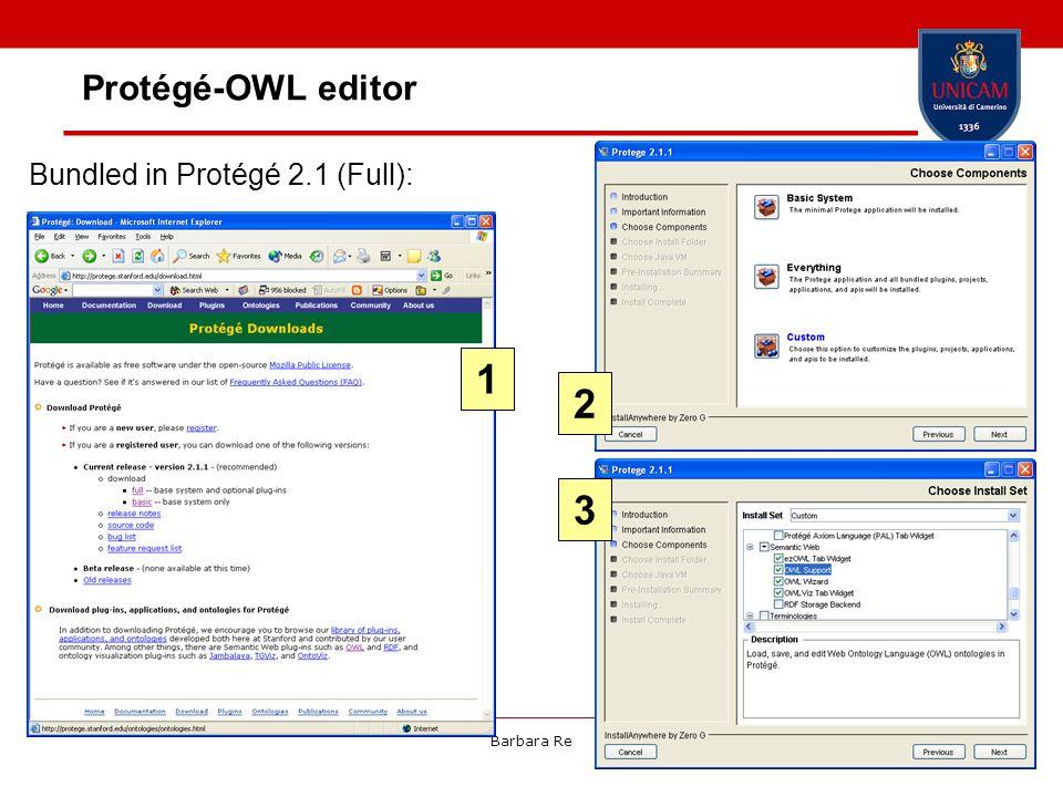 Barbara Re36 Protégé-OWL editor Bundled in Protégé 2.1 (Full): 1 2 3