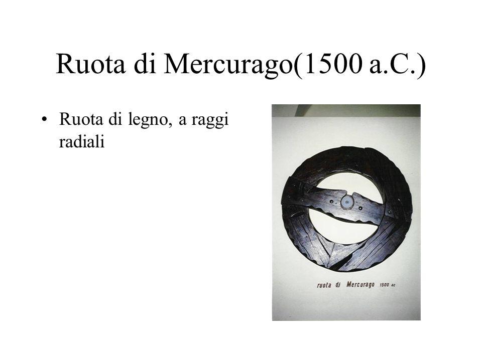Ruota di Mercurago(1500 a.C.) Ruota di legno, a raggi radiali