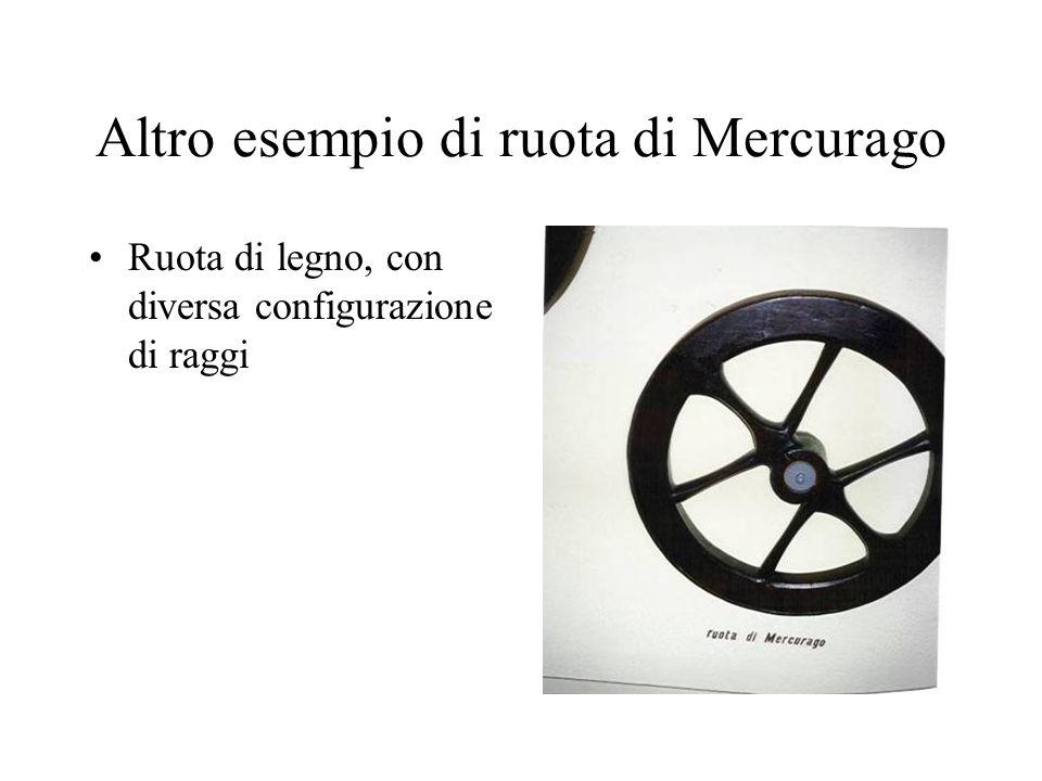 Altro esempio di ruota di Mercurago Ruota di legno, con diversa configurazione di raggi