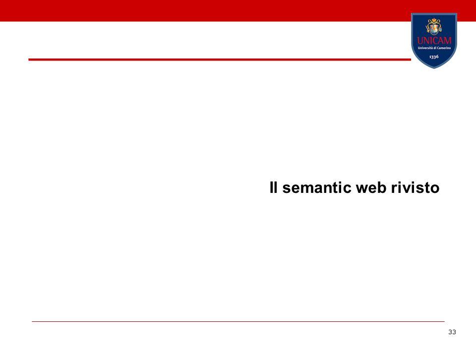 33 Il semantic web rivisto