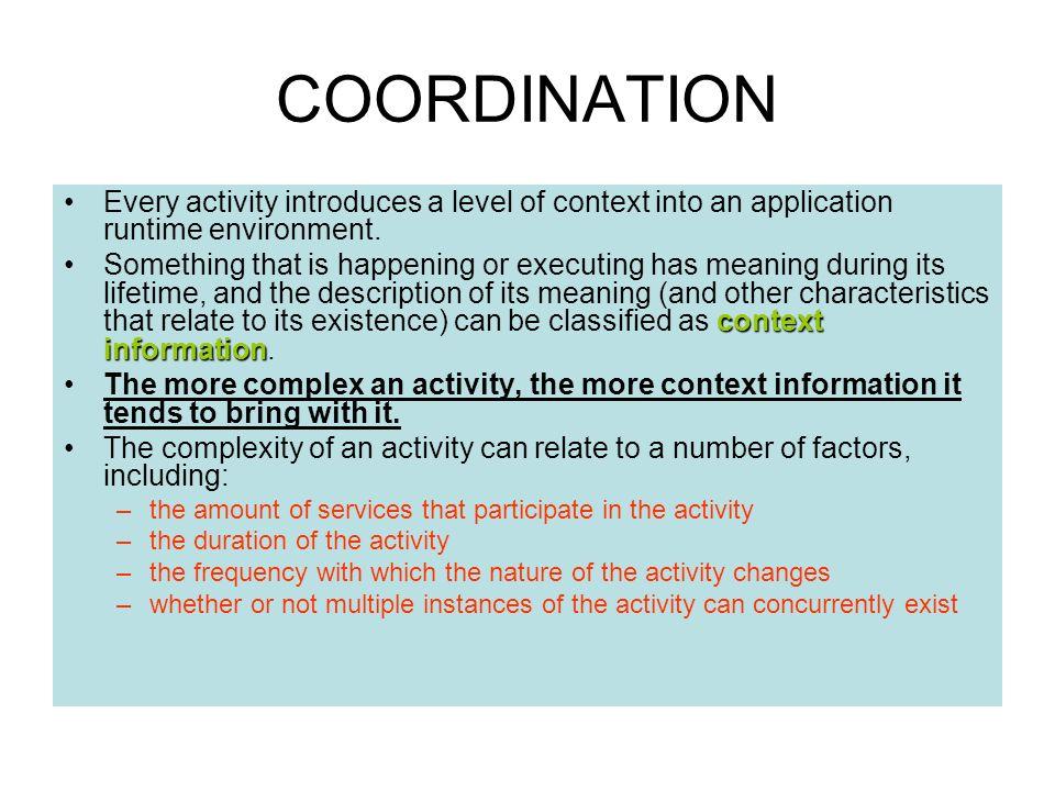 3. COORDINATION