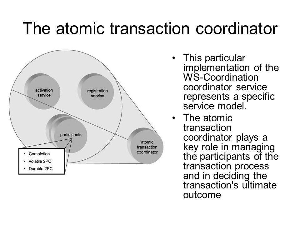 Maintain to ACID properties of data AtomicAtomic –Latomicità rappresenta il fatto che la transazione è ununita indivisibile di esecuzione; o vengono resi visibili tutti gli effetti di una transazione, oppure la transazione non deve avere alcun effetto.