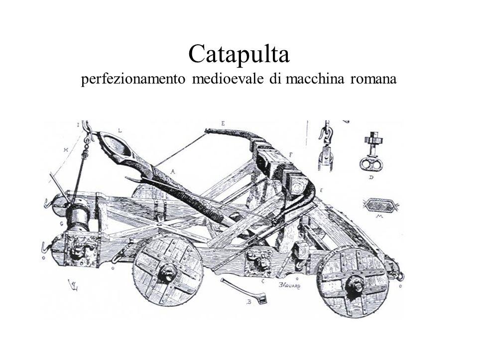 Catapulta perfezionamento medioevale di macchina romana