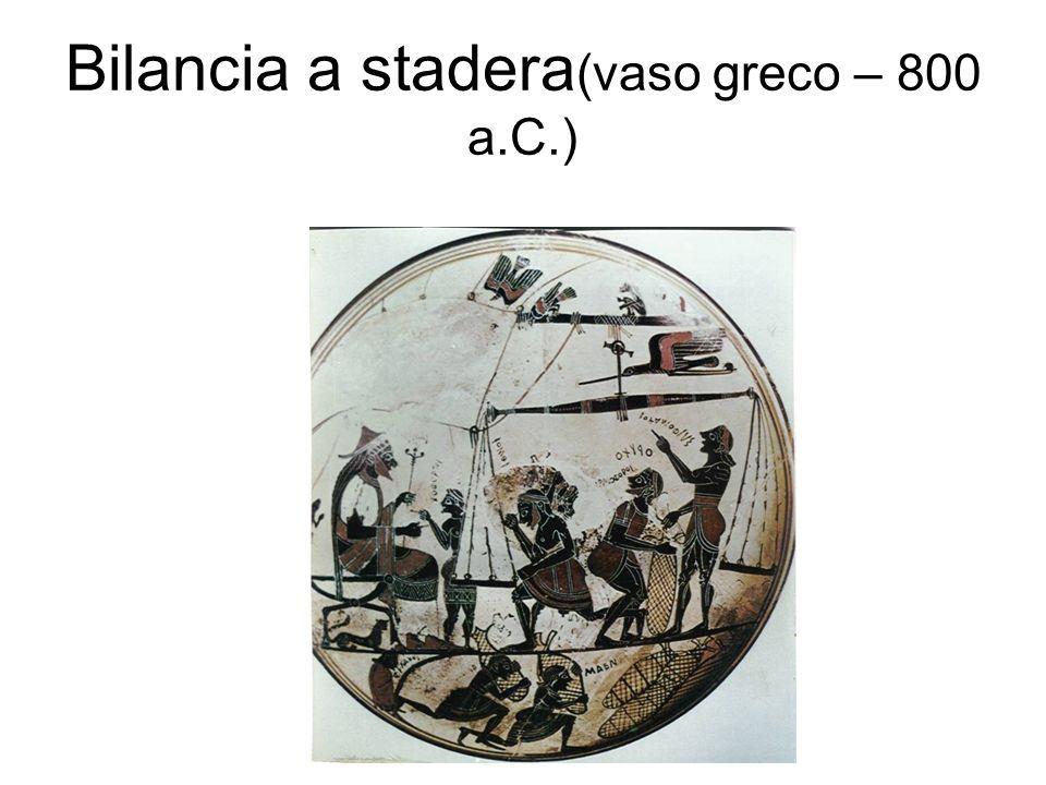 Bilancia a stadera (vaso greco – 800 a.C.)