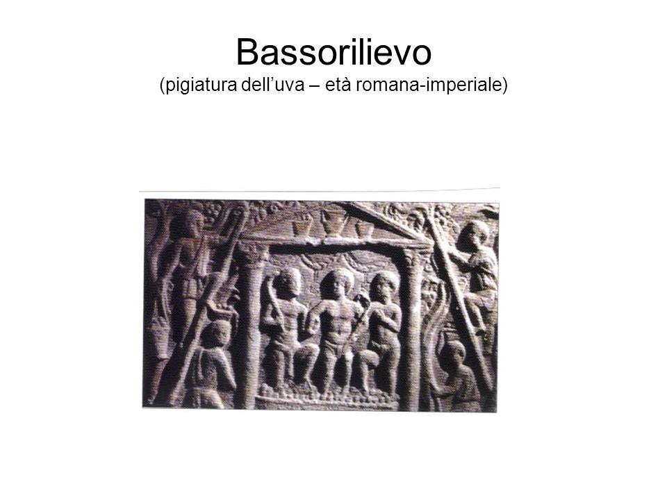 Bassorilievo (pigiatura delluva – età romana-imperiale)