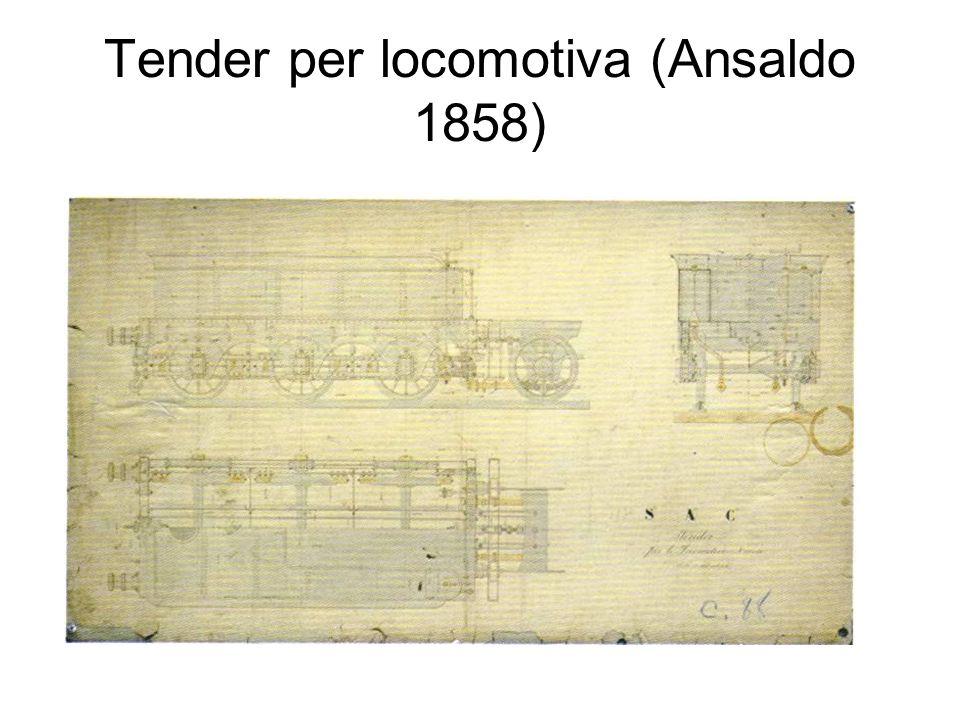Tender per locomotiva (Ansaldo 1858)