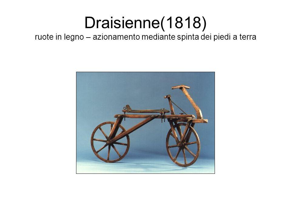 Hobbyhorse(1818) versione in ferro ed evoluzione della draisina(compaiono i pedali)