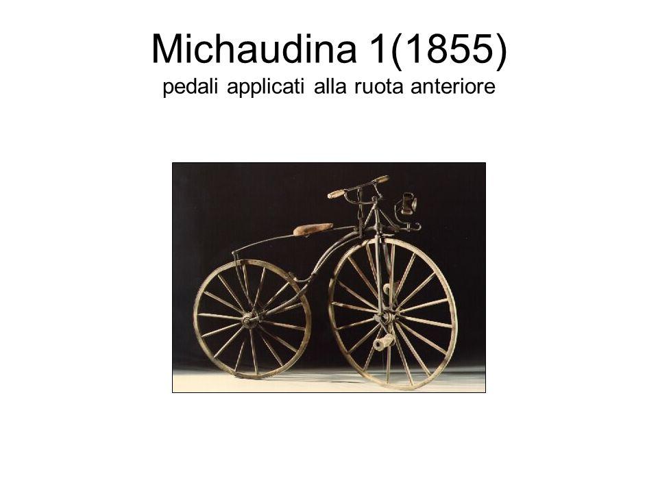 Michaudina 1(1855) pedali applicati alla ruota anteriore