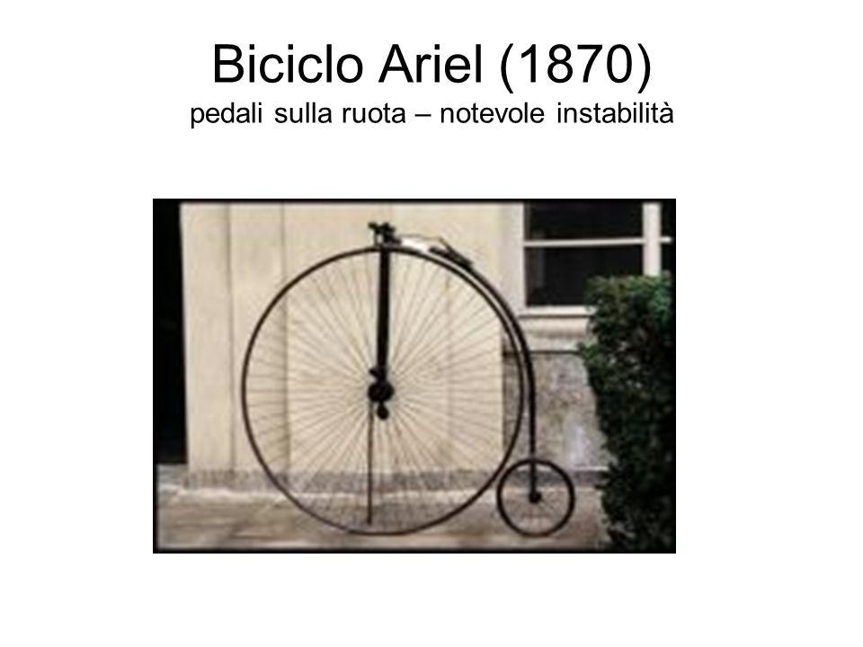 Bicicletta a catena(1870-80) compare la trasmissione