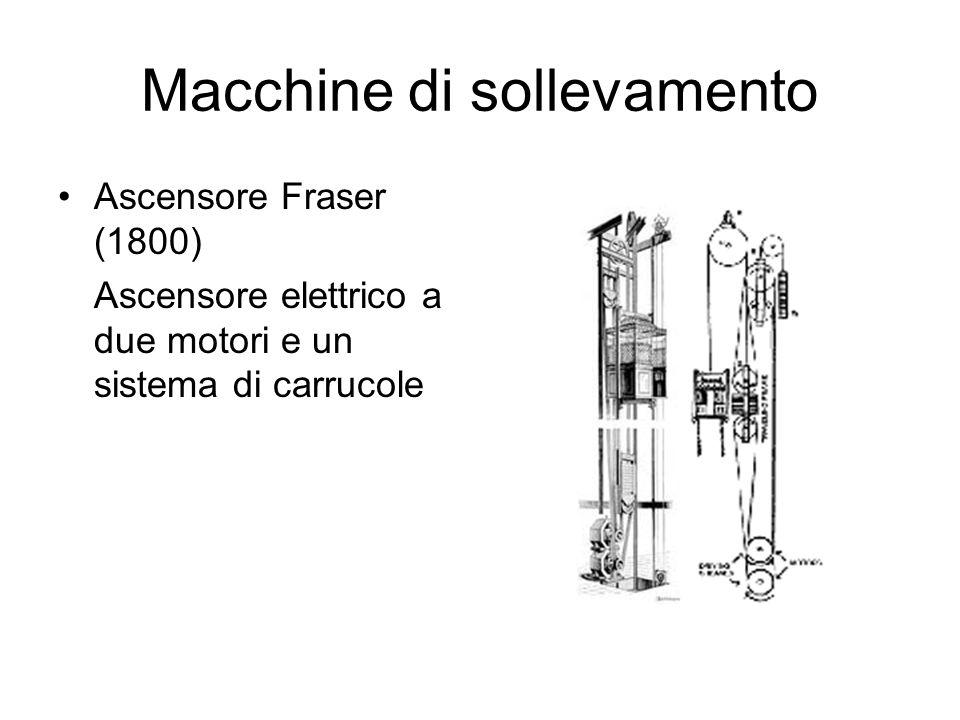Macchine di sollevamento Ascensore Fraser (1800) Ascensore elettrico a due motori e un sistema di carrucole