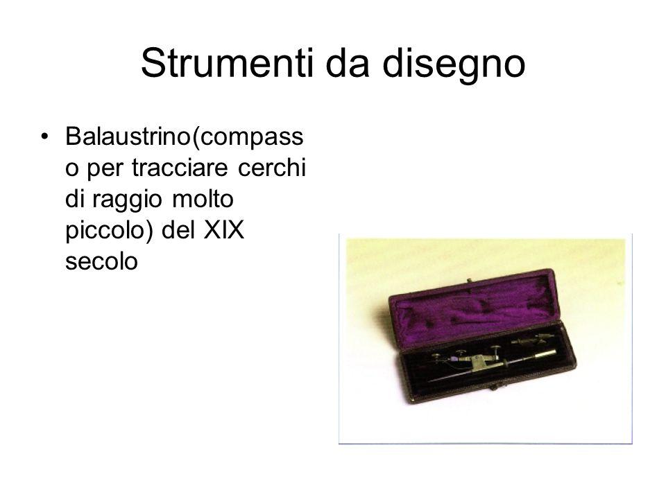 Strumenti da disegno Compassi italiani del XIX secolo Realizzazione di grande accuratezze ed eleganza