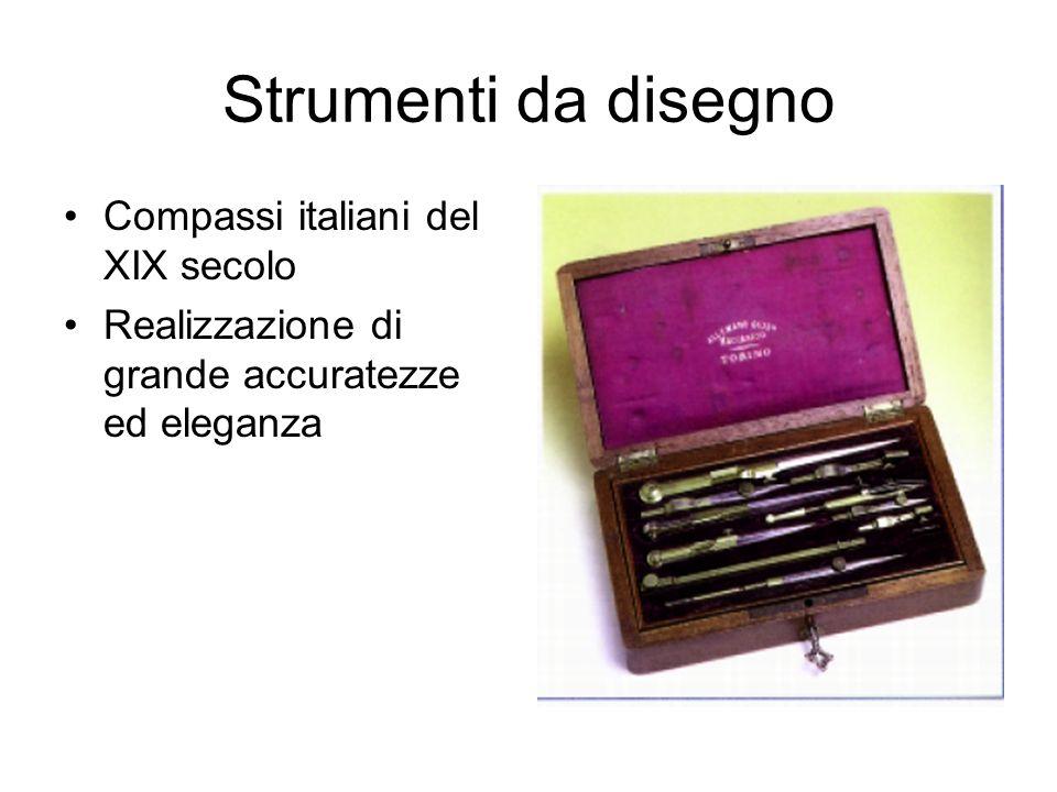 Strumenti da disegno Compasso di piccole dimensioni con tre tipi di punta intercambiabili(XIX secolo)