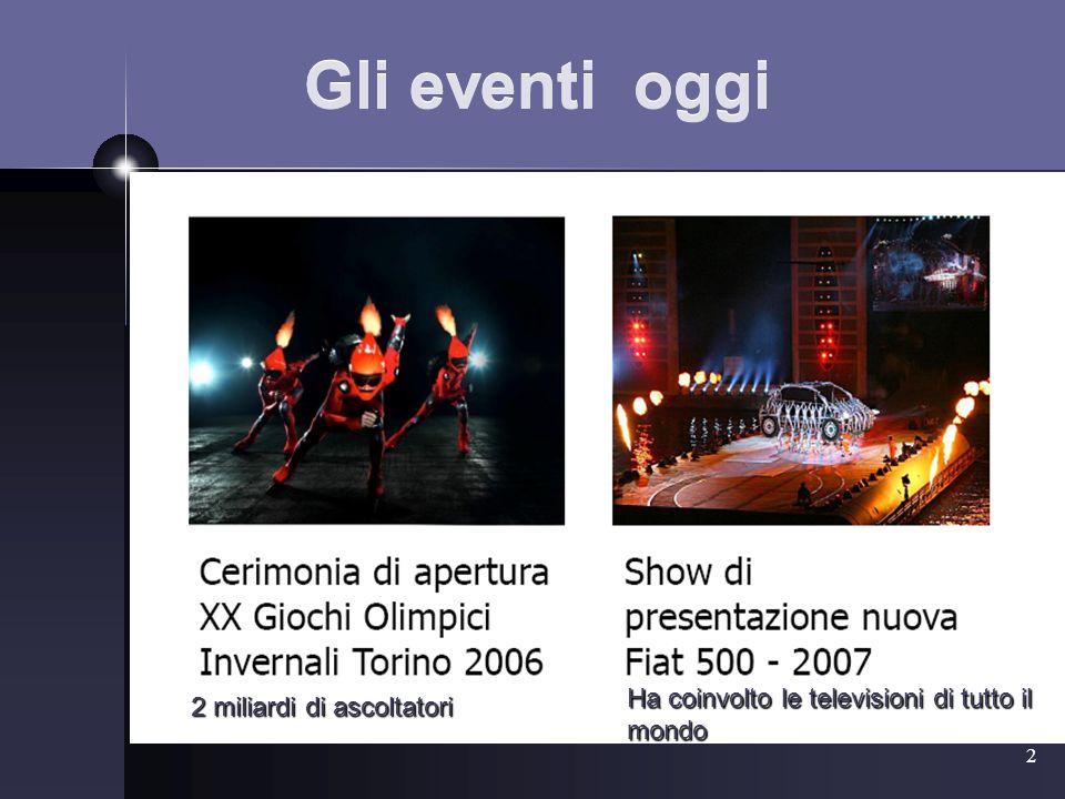3 Eventi una storia recente?