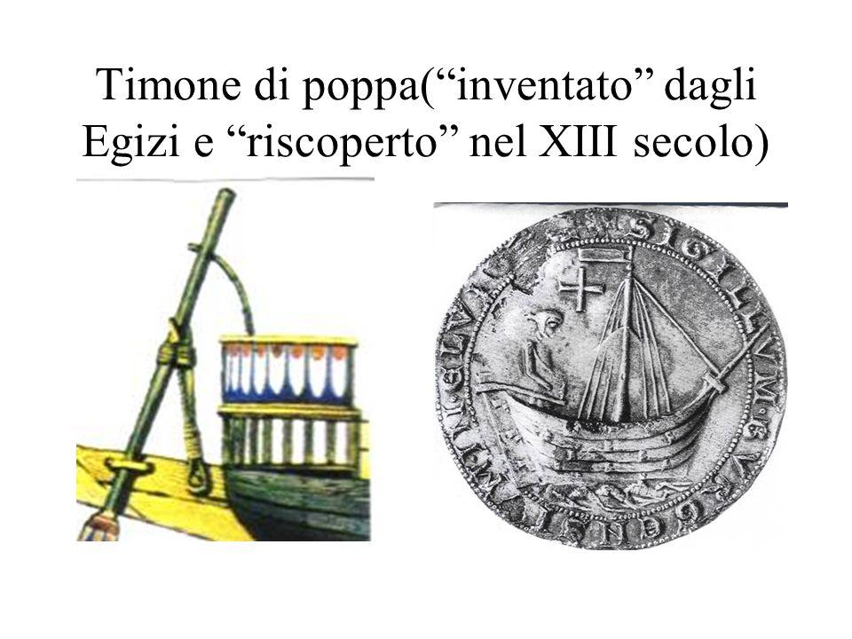 Timone di poppa(inventato dagli Egizi e riscoperto nel XIII secolo)
