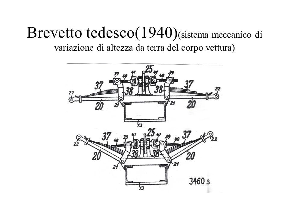Brevetto tedesco(1940) (sistema meccanico di variazione di altezza da terra del corpo vettura)