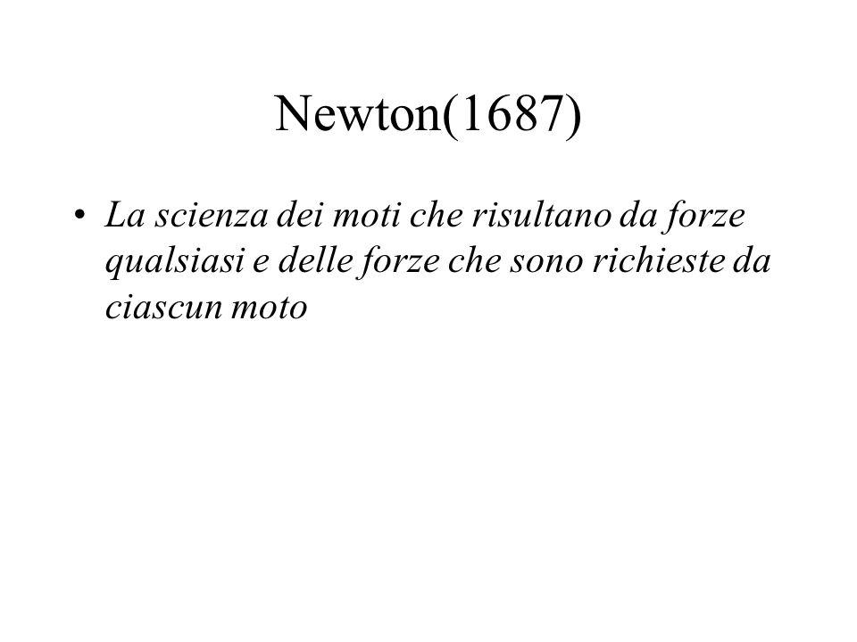 Kirchhoff(1876) Descrizione semplice e completa dei movimenti che avvengono in natura