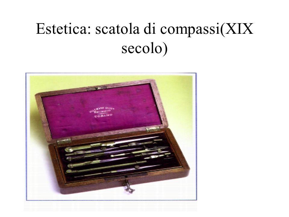 Estetica: scatola di compassi(XIX secolo)