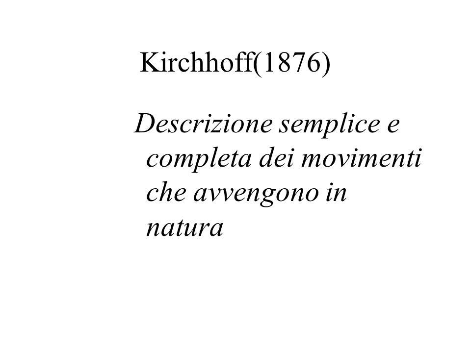Gian Antonio Maggi(1896) fisico e matematico(1856-1937) Descrizione del movimento e deduzione del movimento dalle circostanze capaci di determinarlo e dalle circostanze determinatrici di un movimento supposto